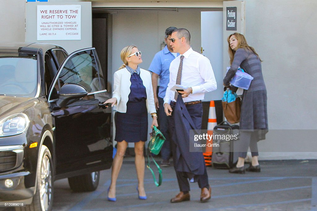 Reese Witherspoon and Jim Toth are seen on February 24 2016 in Los Angeles California