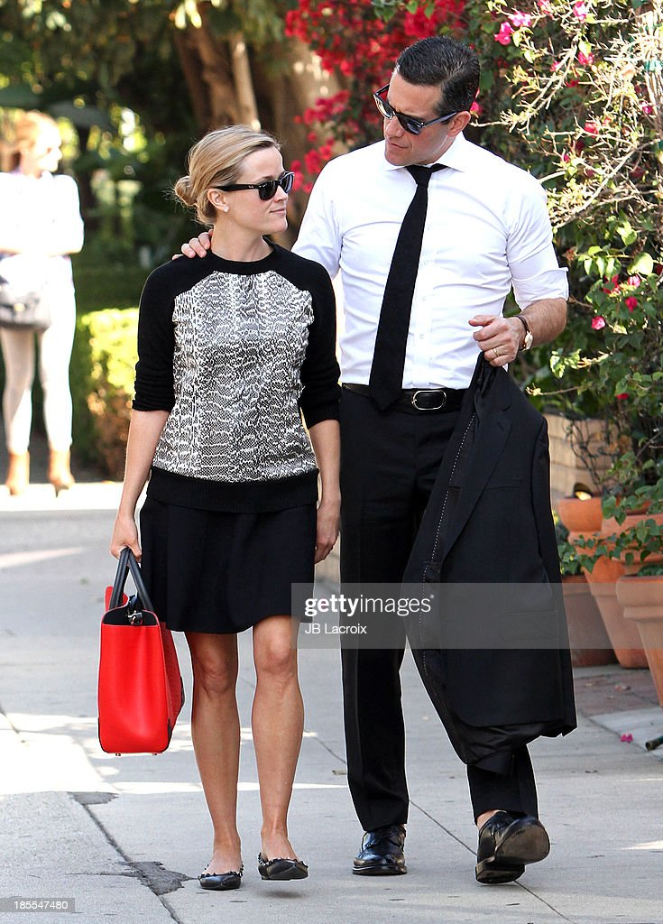 Reese Witherspoon and Jim Toth are seen on October 21 2013 in Los Angeles California