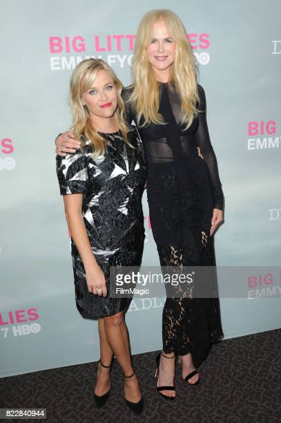 Reese Witherspoon and Nicole Kidman arrive at HBO 'Big Little Lies' FYC at DGA Theater on July 25 2017 in Los Angeles California