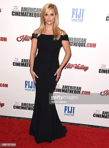 Reese Witherspoon arrives at the 29th American Cinematheque Award Honoring Reese Witherspoon at the Hyatt Regency Century Plaza on October 30 2015 in...
