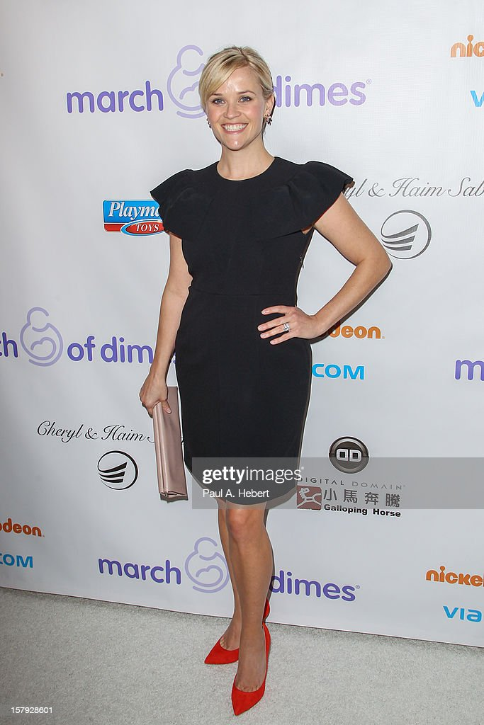 Reese Witherspoon arrives at the March Of Dimes' Celebration Of Babies held at the Beverly Hills Hotel on December 7, 2012 in Beverly Hills, California.