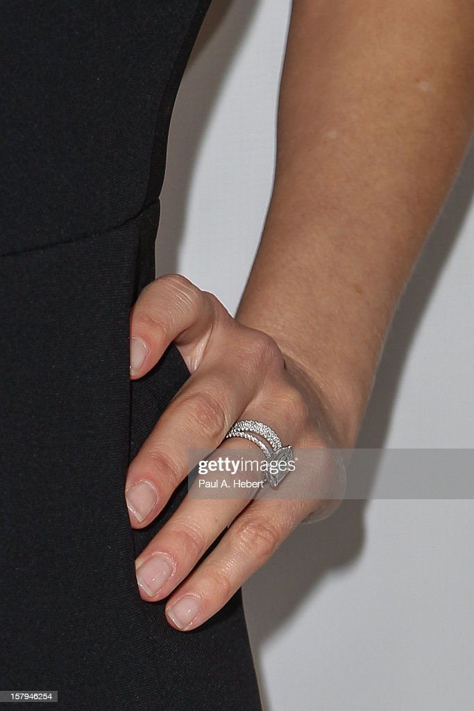 Reese Witherspoon (ring detail) arrives at the March Of Dimes' Celebration Of Babies held at the Beverly Hills Hotel on December 7, 2012 in Beverly Hills, California.