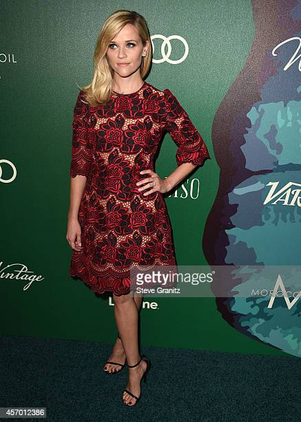 Reese Witherspoon arrives at the Variety's 2014 Power Of Women Event In LA Presented By Lifetime at the Beverly Wilshire Four Seasons Hotel on...