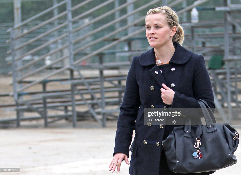 Reese Witherspoon attends a soccer game in Pacific Palisades on December 8, 2012 in Los Angeles, California.