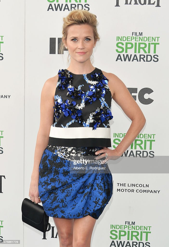Reese Witherspoon attends the 2014 Film Independent Spirit Awards at Santa Monica Beach on March 1, 2014 in Santa Monica, California.