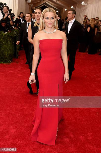 Reese Witherspoon attends the 'China Through The Looking Glass' Costume Institute Benefit Gala at the Metropolitan Museum of Art on May 4 2015 in New...