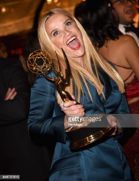 Reese Witherspoon attends the HBO's Official 2017 Emmy After Party at The Plaza at the Pacific Design Center on September 17 2017 in Los Angeles...