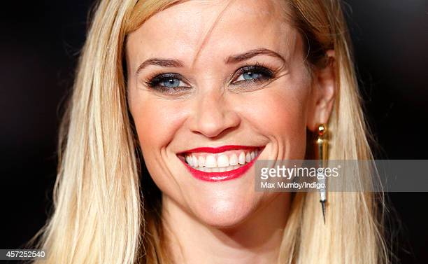 Reese Witherspoon attends The May Fair Hotel Gala Premiere of 'Wild' during the 58th BFI London Film Festival at Odeon Leicester Square on October 13...