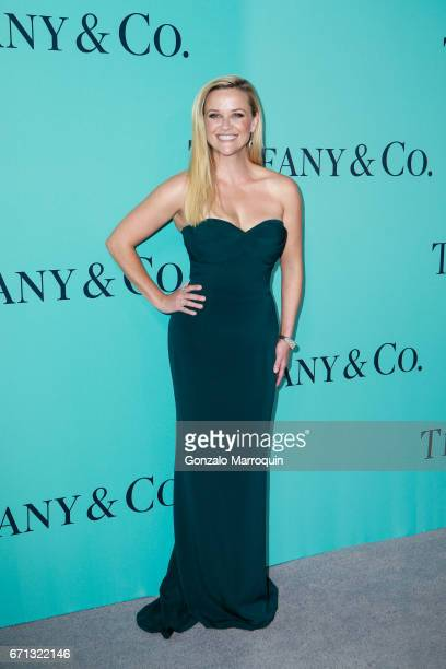 Reese Witherspoon attends the Tiffany Co 2017 Blue Book Collection Gala at St Anna's Warehouse on April 21 2017 in New York Cit