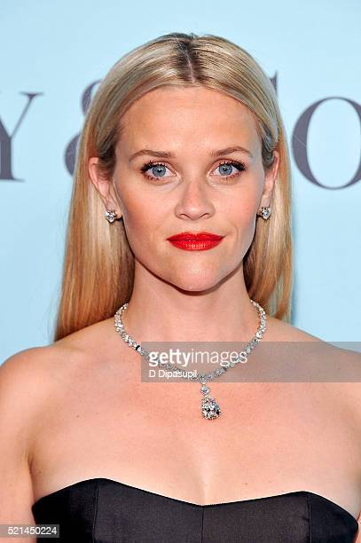 Reese Witherspoon attends the Tiffany Co Blue Book Gala at The Cunard Building on April 15 2016 in New York City