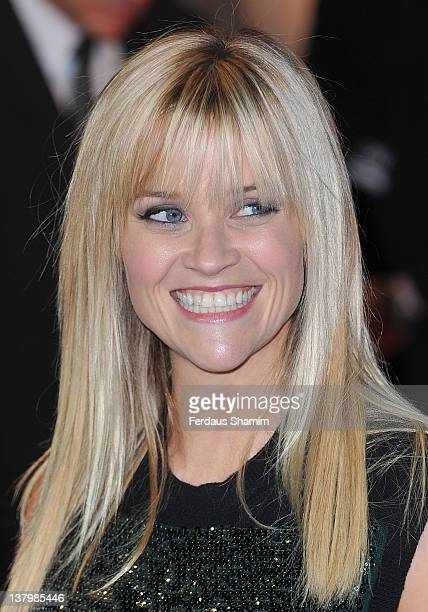 Reese Witherspoon attends the UK premiere of This Means War at ODEON Kensington on January 30 2012 in London England