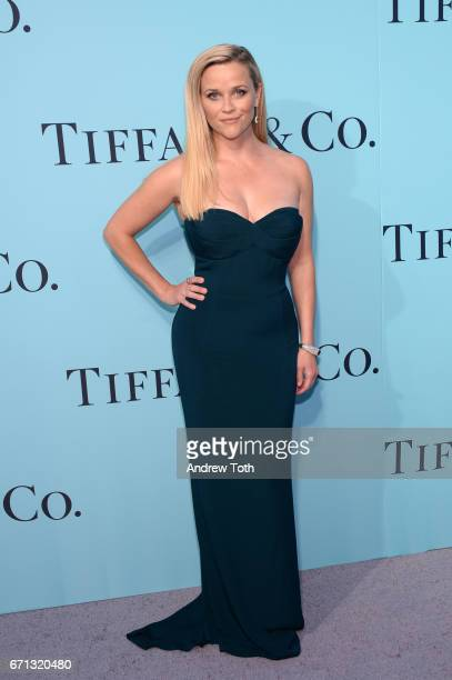 Reese Witherspoon attends Tiffany Co 2017 Blue Book Collection Gala at St Ann's Warehouse on April 21 2017 in New York City