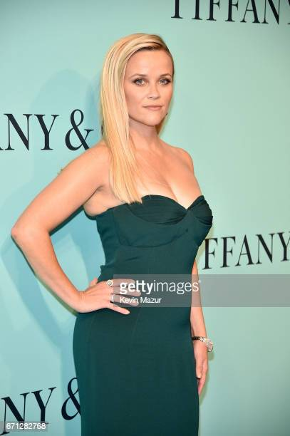Reese Witherspoon attends Tiffany Co Celebrates The 2017 Blue Book Collection at ST Ann's Warehouse on April 21 2017 in New York City
