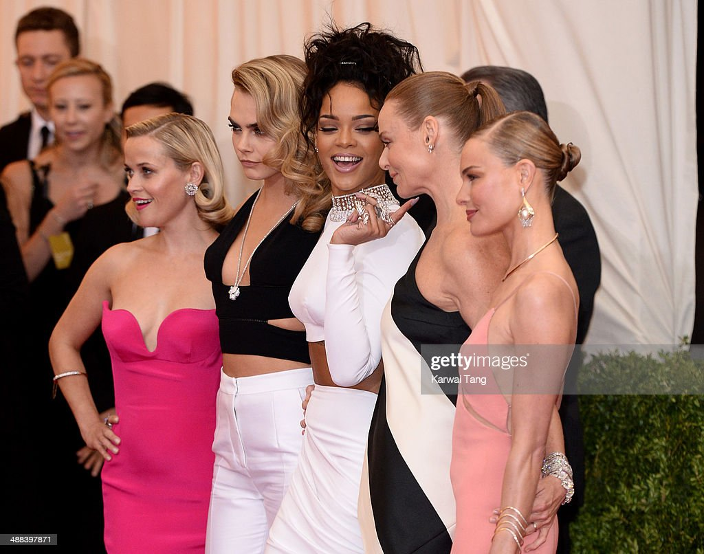 Reese Witherspoon, Cara Delevingne, Rihanna, Stella McCartney and Kate Bosworth attend the 'Charles James: Beyond Fashion' Costume Institute Gala held at the Metropolitan Museum of Art on May 5, 2014 in New York City.