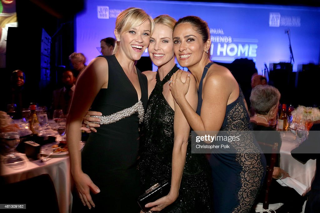 Reese Witherspoon Charlize Theron and Salma Hayek attend the 4th Annual Sean Penn Friends HELP HAITI HOME Gala Benefiting J/P Haitian Relief...