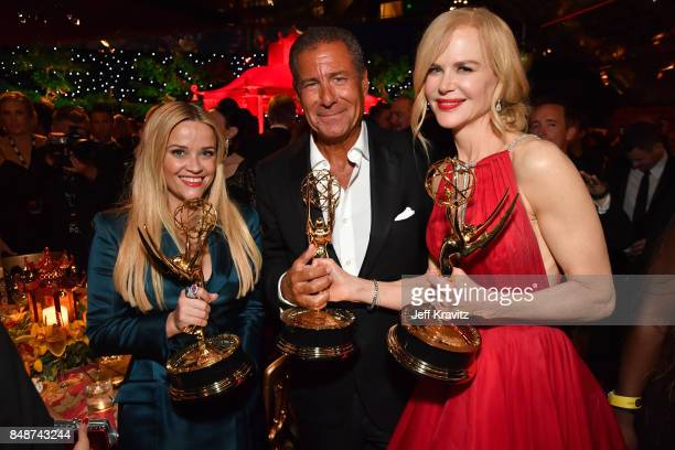 Reese Witherspoon Chief Executive Officer of HBO Richard Plepler and Nicole Kidman at the HBO's Official 2017 Emmy After Party at The Plaza at the...