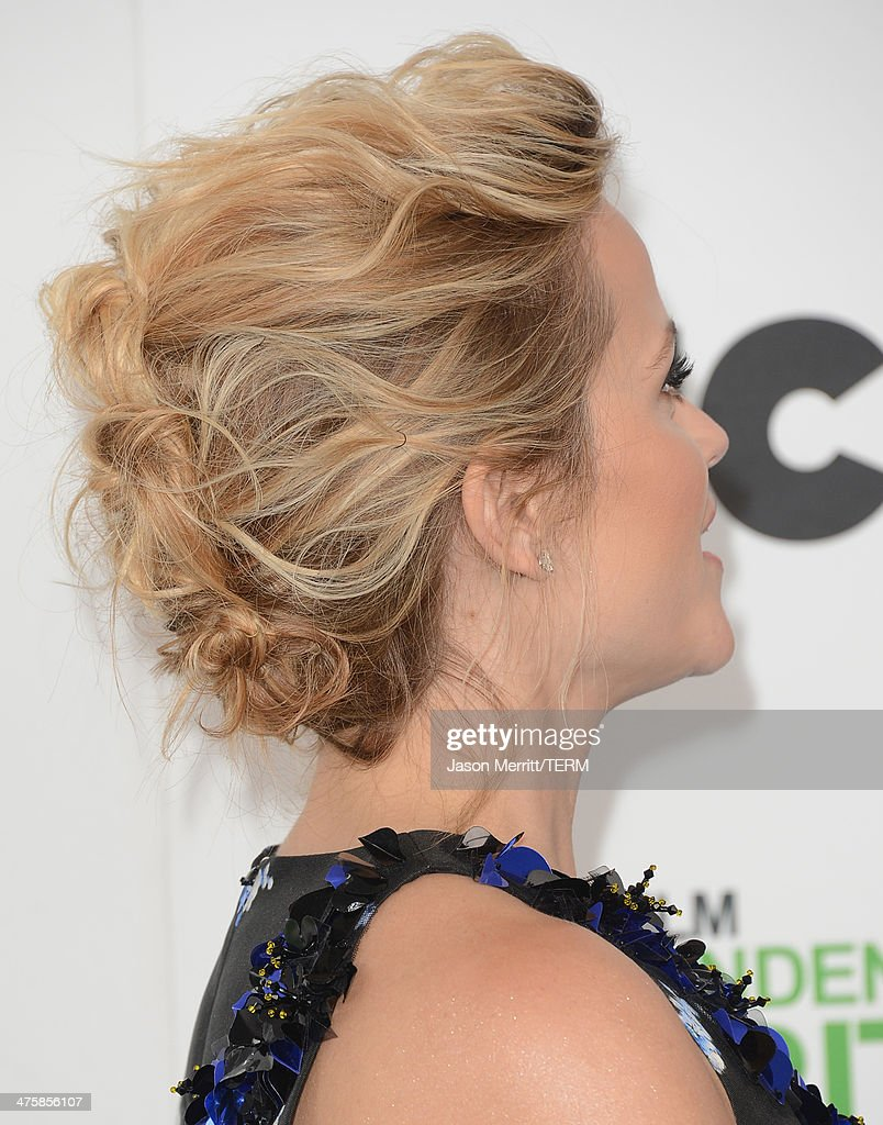 Reese Witherspoon fashion detail at the 2014 Film Independent Spirit Awards at Santa Monica Beach on March 1, 2014 in Santa Monica, California.