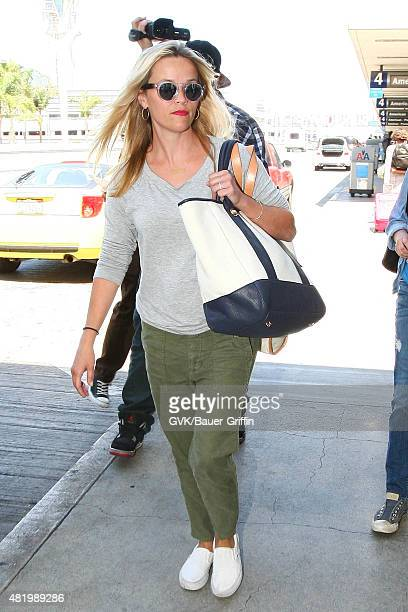 Reese Witherspoon is seen at LAX on July 25 2015 in Los Angeles California