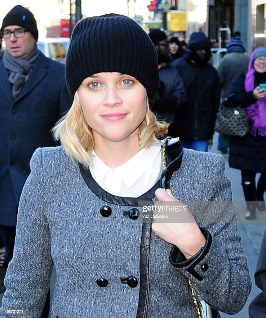 <a gi-track='captionPersonalityLinkClicked' href=/galleries/search?phrase=Reese+Witherspoon&family=editorial&specificpeople=201577 ng-click='$event.stopPropagation()'>Reese Witherspoon</a> is seen in Times Square on February 11, 2014 in New York City.