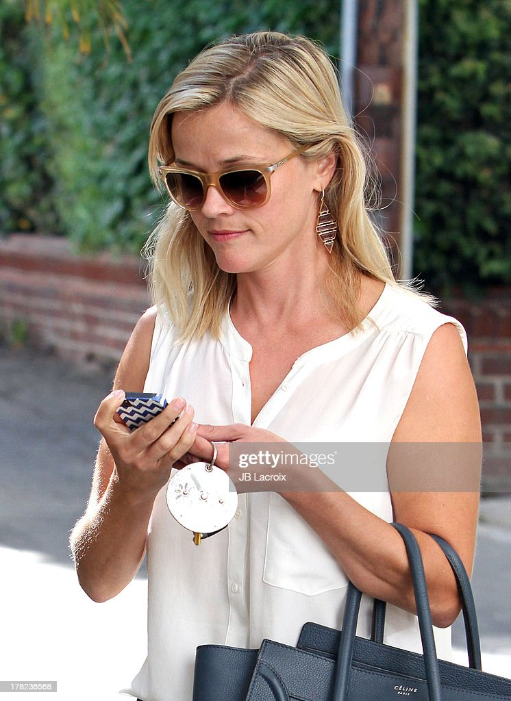 <a gi-track='captionPersonalityLinkClicked' href=/galleries/search?phrase=Reese+Witherspoon&family=editorial&specificpeople=201577 ng-click='$event.stopPropagation()'>Reese Witherspoon</a> is seen on August 27, 2013 in Los Angeles, California.