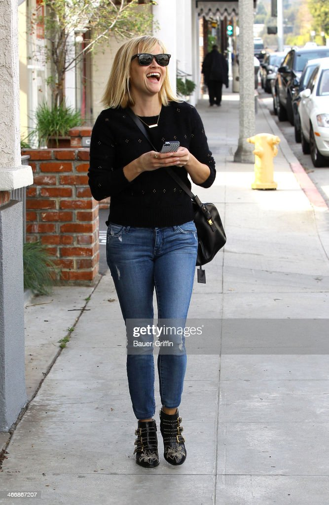 Reese Witherspoon is seen on February 04, 2014 in Los Angeles, California.