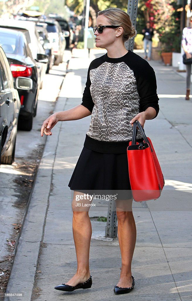 Reese Witherspoon is seen on October 21, 2013 in Los Angeles, California.