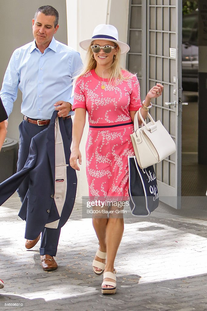 Reese Witherspoon is seen with her husband James Toth on July 12 2016 in Los Angeles California