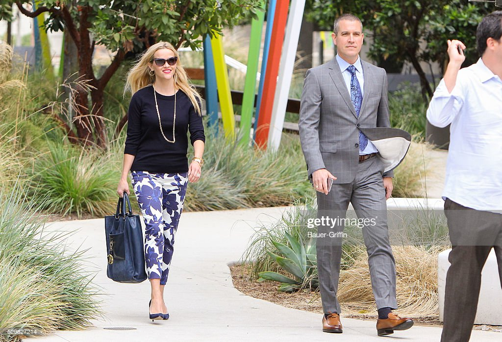 Reese Witherspoon is seen with her husband Jim Toth on May 09 2016 in Los Angeles California