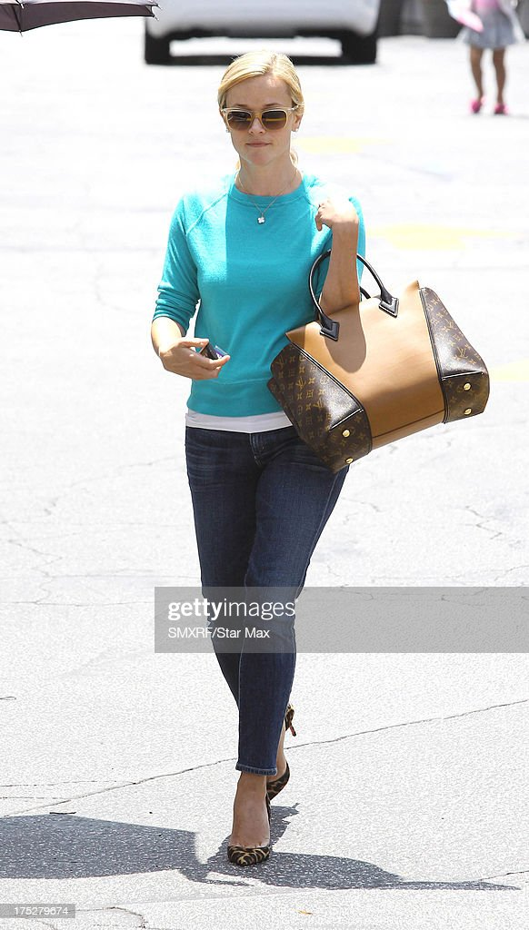 <a gi-track='captionPersonalityLinkClicked' href=/galleries/search?phrase=Reese+Witherspoon&family=editorial&specificpeople=201577 ng-click='$event.stopPropagation()'>Reese Witherspoon</a> is sighted on August 1, 2013 in Los Angeles, California.