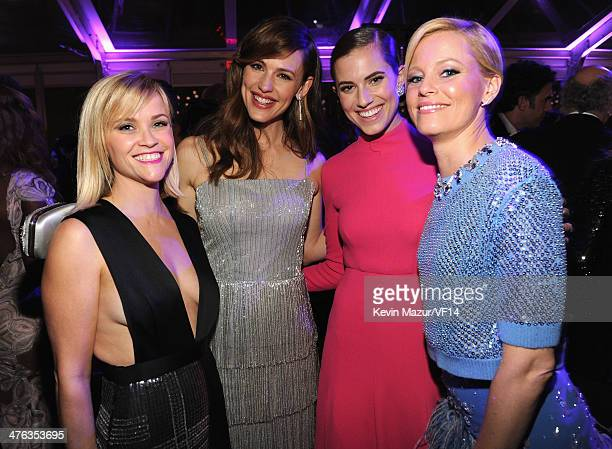 Reese Witherspoon Jennifer Garner Allison Williams and Elizabeth Banks attend the 2014 Vanity Fair Oscar Party Hosted By Graydon Carter on March 2...
