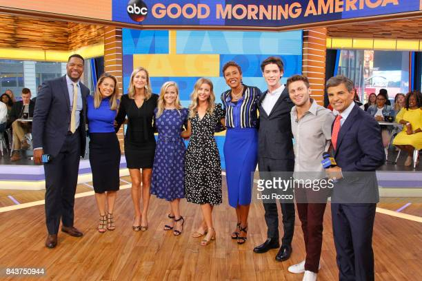AMERICA Reese Witherspoon Pico Alexander Jon Rudnitsky and director Hallie MeyersShyer are guests on 'Good Morning America' Thursday September 7 2017...
