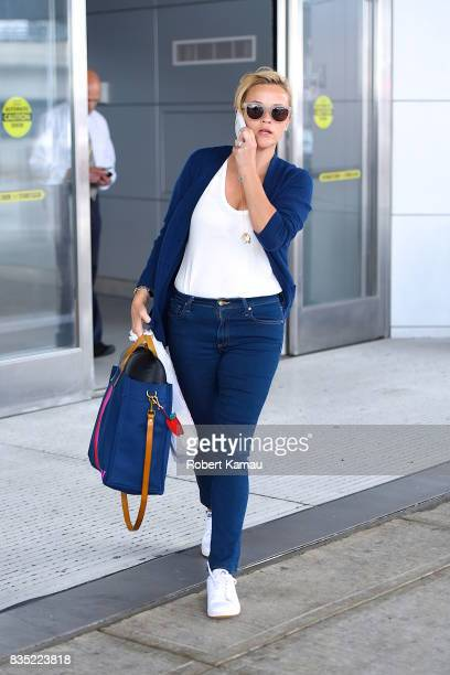 Reese Witherspoon seen at JFK Airport on August 18 2017 in New York City