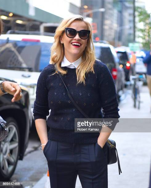Reese Witherspoon seen out and about in Manhattan on November 2 2017 in New York City