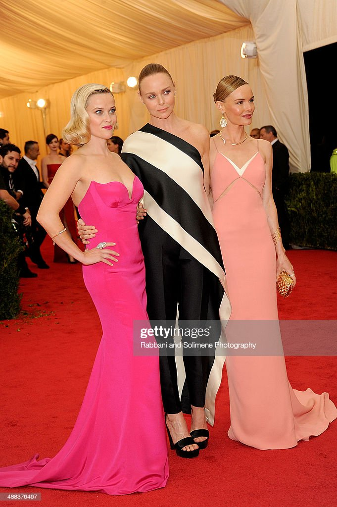 Reese Witherspoon, Stella McCartney, and Kate Bosworth attend the 'Charles James: Beyond Fashion' Costume Institute Gala at the Metropolitan Museum of Art on May 5, 2014 in New York City.
