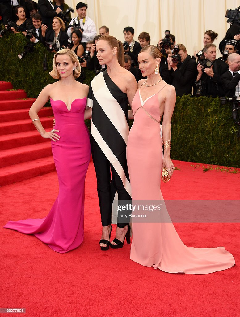 Reese Witherspoon, Stella McCartney and Kate Bosworth attend the 'Charles James: Beyond Fashion' Costume Institute Gala at the Metropolitan Museum of Art on May 5, 2014 in New York City.