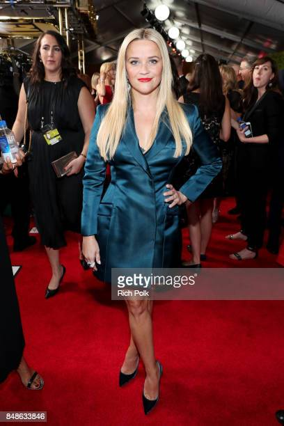 Reese Witherspoon walks the red carpet during the 69th Annual Primetime Emmy Awards at Microsoft Theater on September 17 2017 in Los Angeles...
