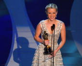 Reese Witherspoon wins award for Performance by an Actress in a Leading Role for 'Walk in Line' at the Kodak Theatre in Hollywood California