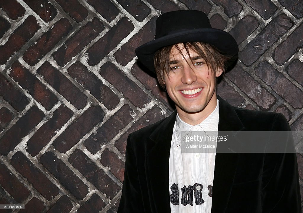 Reeve Carney celebrates his 30th Birthday with the cast company of Broadway's 'SpiderMan' at the new Jekyll Hyde Restaurant Bar in Times Square New...