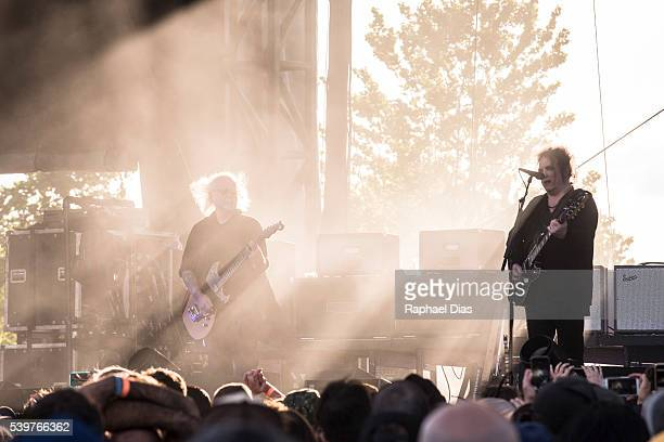 Reeves Gabrels and Robert Smith from The Cure perform at Bestival day 2 at Woodbine Park on June 12 2016 in Toronto Canada