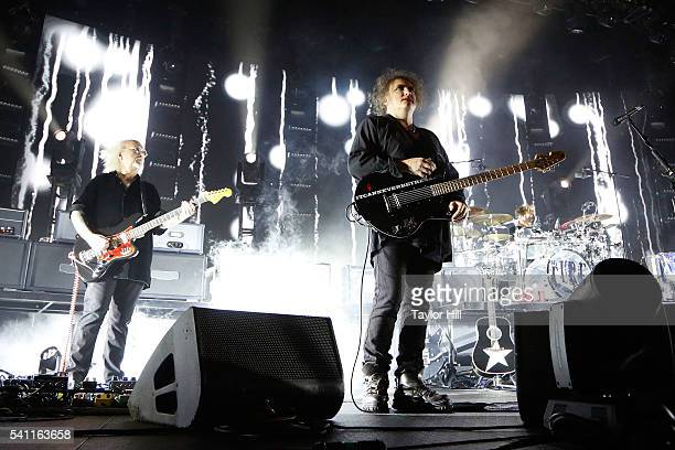 Reeves Gabrels and Robert Smith of The Cure at Madison Square Garden on June 18 2016 in New York City