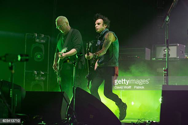 Reeves Gabrels and Simon Gallup from The Cure perform at AccorHotels Arena on November 15 2016 in Paris France