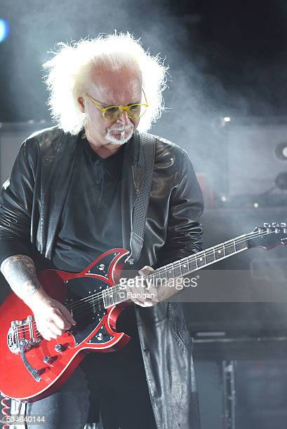 Reeves Gabrels of The Cure performs at Shoreline Amphitheatre on May 26 2016 in Mountain View California