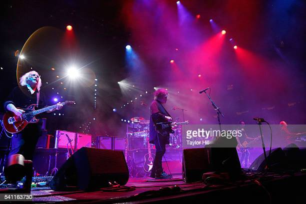 Reeves Gabrelss Robert Smith Simon Gallup and Roger O'Donnell of The Cure perform at Madison Square Garden on June 18 2016 in New York City