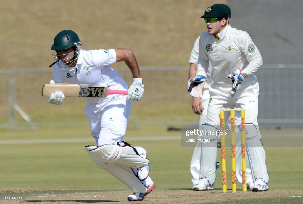 Reeza Hendricks of South Africa A during day 2 of the 1st Test match between South Africa A and Australia A at Tuks Oval on July 25, 2013 in Pretoria, South Africa.