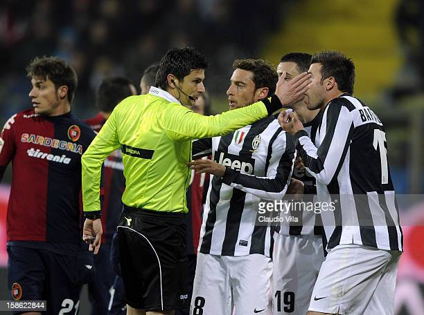 Referee Antonio Damato during the Serie A match between Cagliari Calcio and FC Juventus at Stadio Ennio Tardini on December 21 2012 in Parma Italy