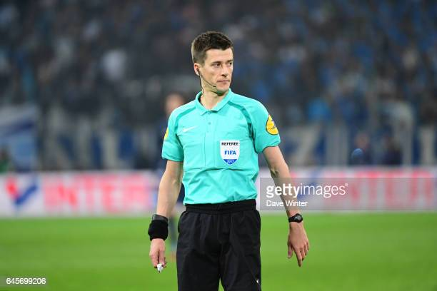 Referee benoit Bastien during the French Ligue 1 match Marseille and Paris Saint Germain at Stade Velodrome on February 26 2017 in Marseille France