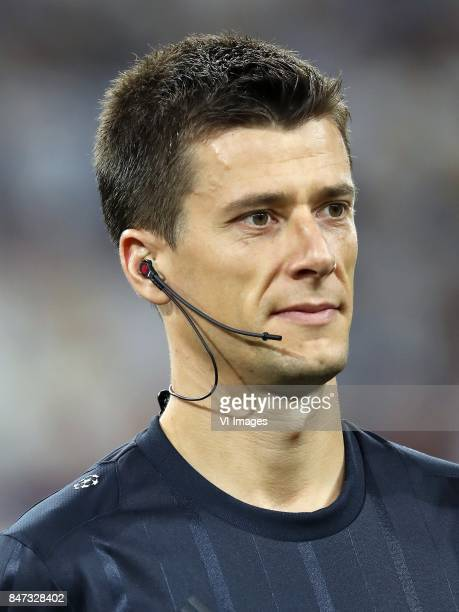referee Benoit Bastien during the UEFA Champions League group H match between Real Madrid and APOEL FC on September 13 2017 at the Santiago Bernabeu...
