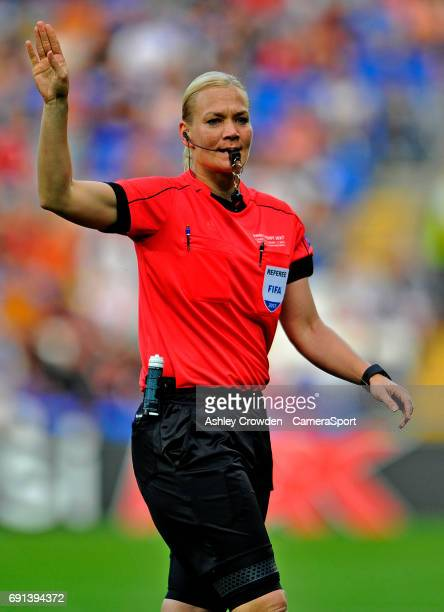 Referee Bibiana Steinhaus in action during the UEFA Women's Champions League Final match between Lyon Women and Paris SaintGermain Women at the...
