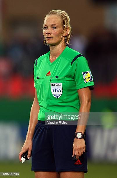 Referee Bibiana Steinhaus of Germany during the FIFA U20 Women's World Cup Canada 2014 Quarter Final match between Korea DPR and the United States at...