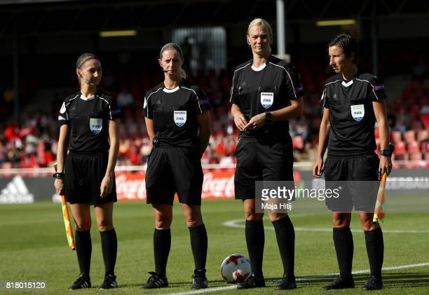 Referee Bibiana Steinhaus of Germany looks on before the Group C match between Austria and Switzerland during the UEFA Women's Euro 2017 at Stadion...